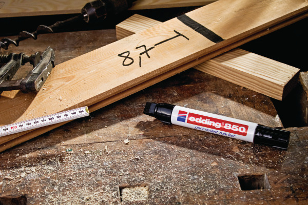 EDDING Permanent Marker 850 5-15mm 850-2 rot
