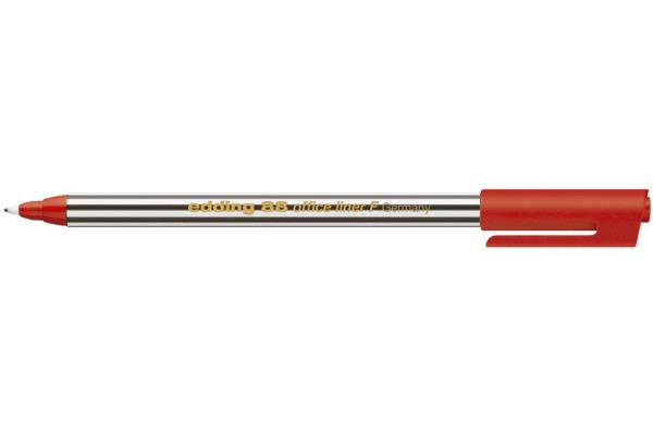 EDDING Fineliner 88 officeliner 0,6mm 88-2 rot