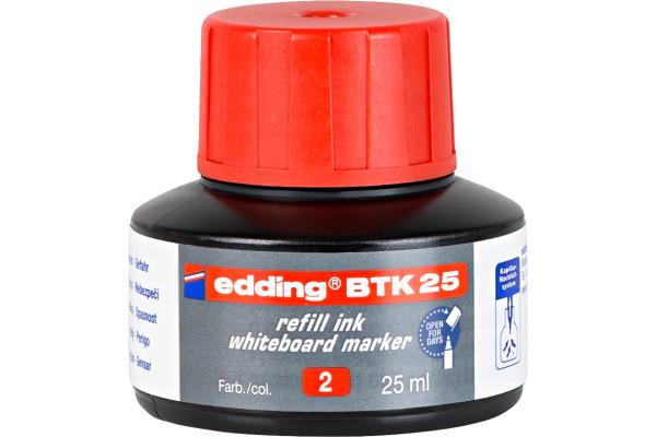 EDDING Nachfülltusche BTK25 BTK-25-2 rot