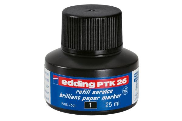 EDDING Tinte 25ml PTK-25-1 schwarz