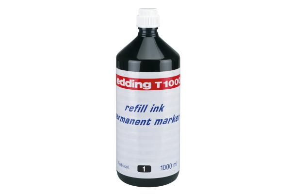 EDDING Tinte 1000ml T-1000-1 schwarz