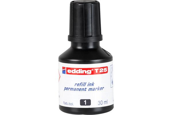 EDDING Nachfülltuschen T25 T-25-1 schwarz 30ml