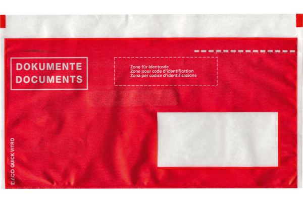 ELCO Dokumentent. Quick Vitro C6/5 29023.80 rot, Fenster rechts 250 Stk.