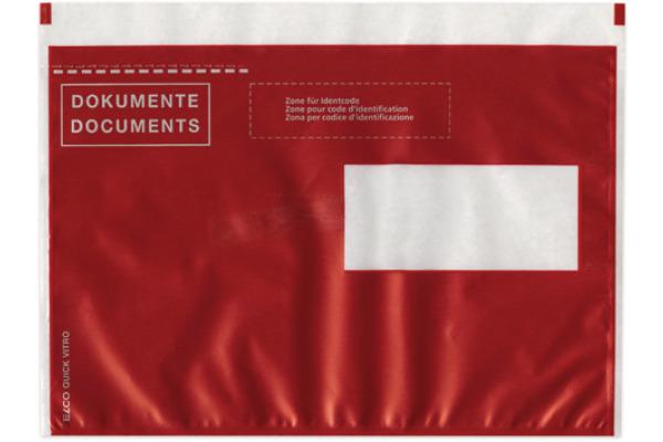 ELCO Dokumentent. Quick Vitro C5 29024.8 rot, Fenster rechts 250 Stk.