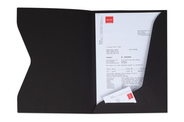 ELCO Offertmappe Prestige 29450.11 schwarz, 270gm2 10 Stk.