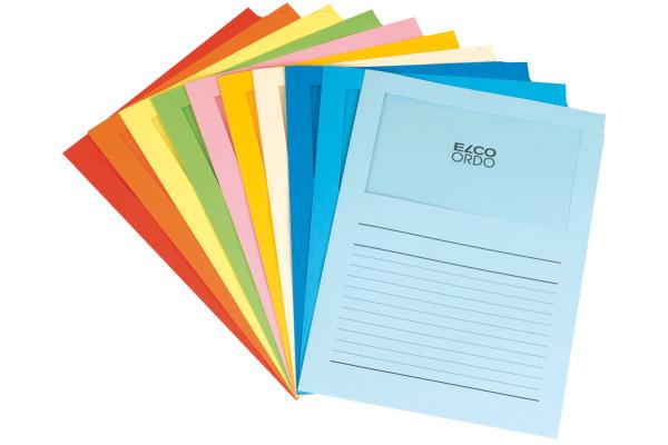 ELCO Sichthülle Ordo 120g A4 29488.00 10-farbig, Fenster 100 Stück