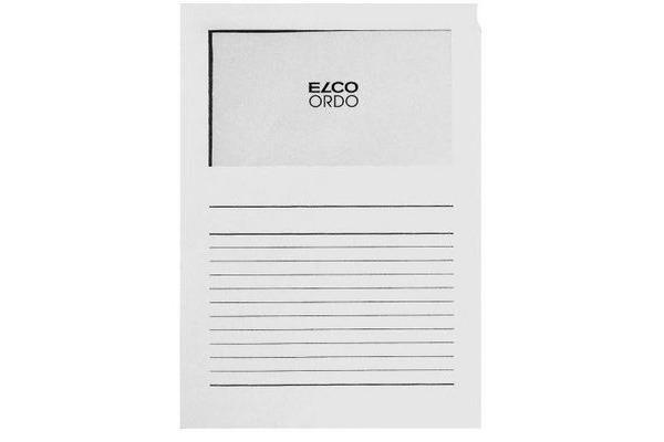 ELCO Sichthülle Ordo 120g A4 29489.10 weiss, Fenster 100 Stück
