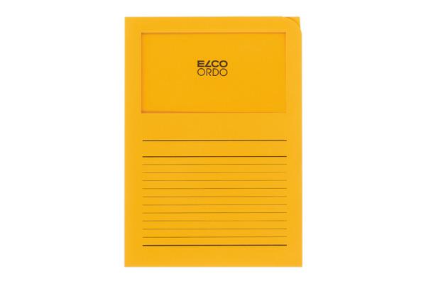 ELCO Sichthülle Ordo 120g A4 29489.42 goldgelb, Fenster 100 Stück