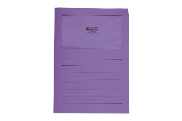 ELCO Sichthülle Ordo 120g A4 29489.53 violette, Fenster 100 Stück