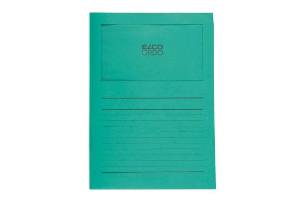 ELCO Sichthülle Ordo 120g A4 29489.63 grün, Fenster 100 Stück