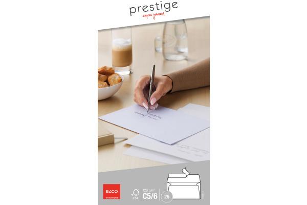 ELCO Briefumschlag Prestige C5/6 70499.12 120g,weiss,o.Fenster 25 Stk.