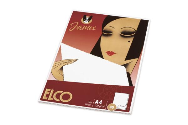 ELCO Schreibblock Velin A4 71311.1 weiss 40 Blatt
