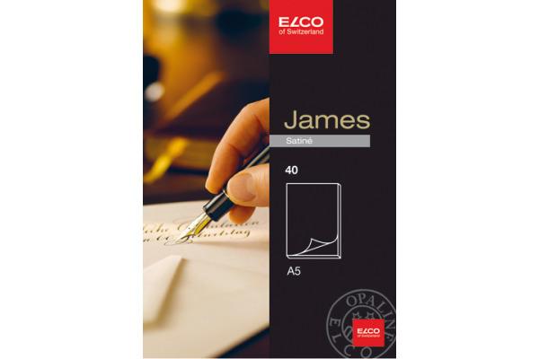 ELCO Schreibblock James Satine A5 71712.1 weiss, 100g 40 Blatt