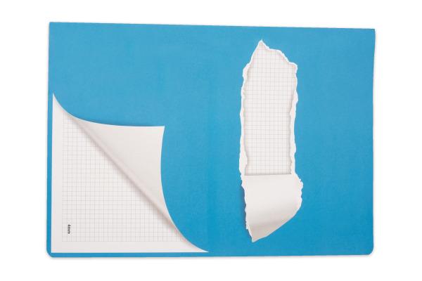 ELCO Schulheft mit Sticker A4 73061.37 blau, 2 Stück, 2x24 Blatt