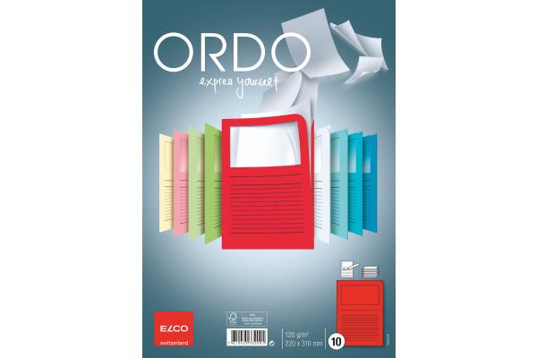 ELCO Organisationsmappen Ordo A4 73695.92 rot, Fenster 10...