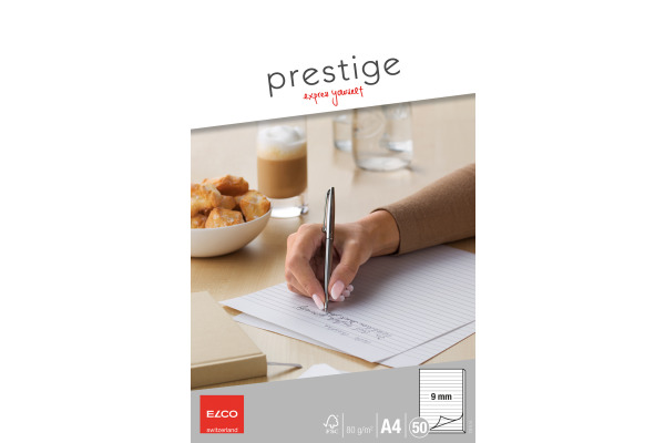 ELCO Schreibblock Prestige A4 73711.15 weiss, liniert, 80g 50 Blatt