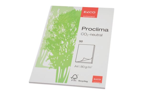 ELCO Schreibblock Proclima A4 74301.14 blanko, 70g 50 Blatt