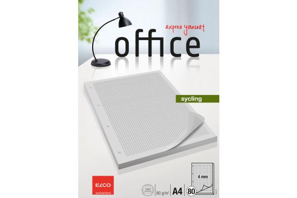 ELCO Ringbuchblock Office A4 74415.27 kariert 80 Blatt