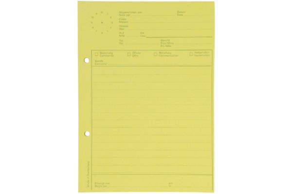 ELCO Telefonblock mit Uhr A5 74584.79 gelb, 65gm2 5x80 Blatt