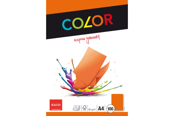 ELCO Office Color Papier A4 74616.82 80g, orange 100 Blatt
