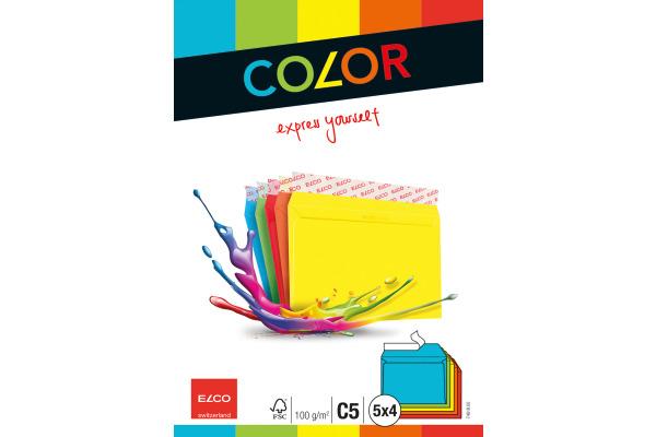 ELCO Couvert Color C5 74618.00 100g, 5-farbig 5x4 Stück