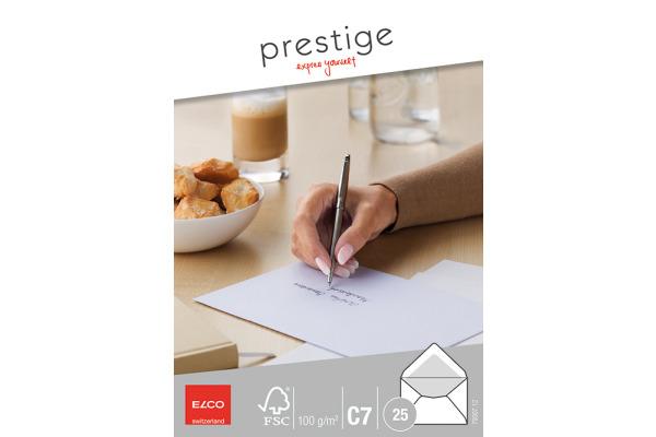 ELCO Briefumschlag Prestige C7 79307.12 100g,weiss,o.Fenster 25 Stk.