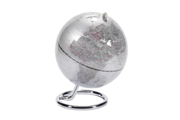 EMFORM Globus MINI GALILEI SE-0469 Höhe 17, Ø 13.5cm silber