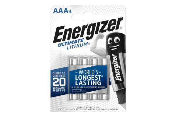 ENERGIZER Batterien Ultimate AAA 1.5V AAA/L92 Lithium 4 Stück