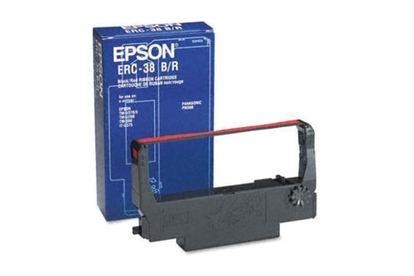 EPSON Farbband Nylon schwarz rot S015376 Epson ERC 38,...