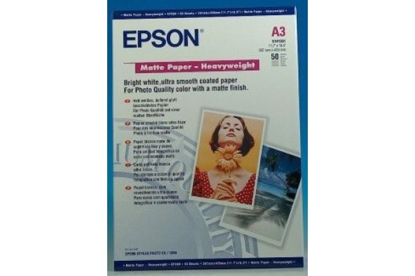 EPSON Matt Paper heavy weight A3 S041261 InkJet 167g 50 Blatt