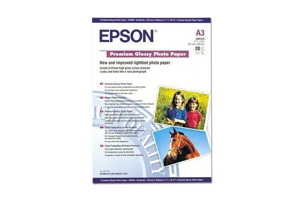 EPSON Premium Glossy Photo Paper A3 S041315 InkJet 255g 20 Blatt