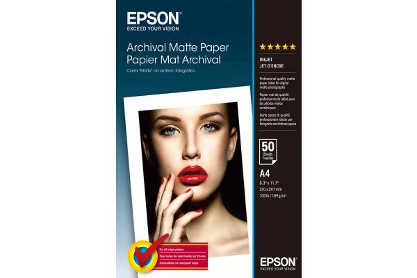 EPSON Archival Matt Paper A4 S041342 InkJet 189g 50 Blatt