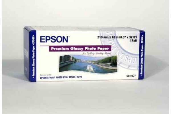 EPSON Premium Glossy Photo Paper 10m S041377 Stylus Photo 255g 210mm