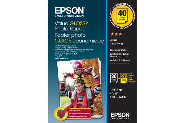 EPSON Value Photo Paper 10x15cm S400044 InkJet 183g 2x20...