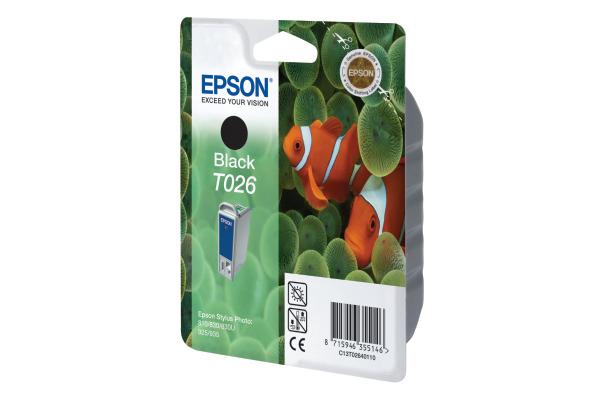 EPSON Tintenpatrone schwarz T026401 Stylus Photo 810 540 Seiten