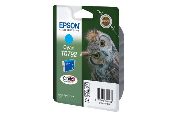 EPSON Tintenpatrone cyan T079240 Stylus Photo 1400 1425 Seiten