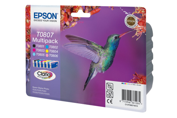 EPSON Multipack Tinte 6-color T080740 Stylus Photo R265