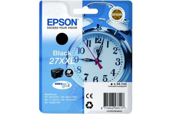 EPSON Tintenpatrone XXL schwarz T279140 WF 3620/7620 2200...