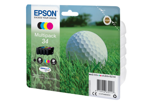 EPSON Multipack Tinte CMYBK T346640 WF-3720 3725DWF 4-color