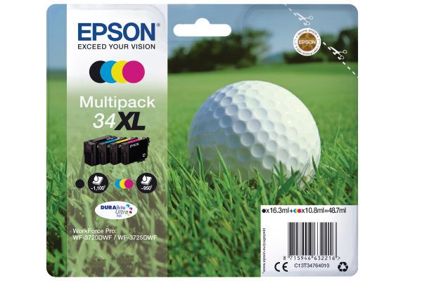 EPSON Multipack Tinte XL CMYBK T347640 W