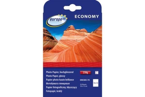 EUROPE Fotokarten glossy 100x150mm 090385-70 InkJet 10 Blatt