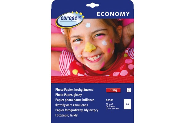 EUROPE Fotopapier glossy A4 90381 Inkjet 50 Blatt