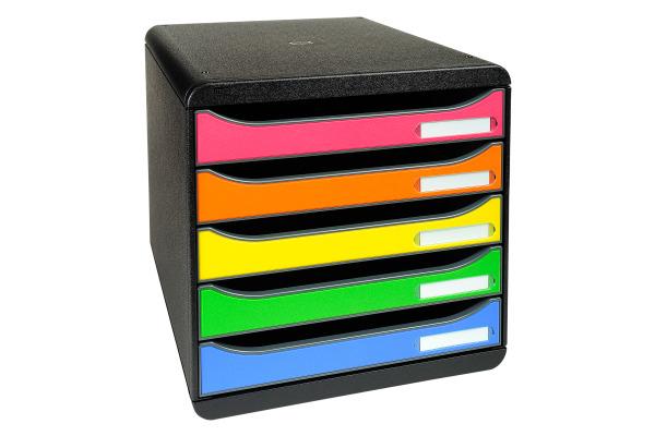 EXACOMPTA Schubladenbox BIG-BOX PLUS, 5 Schübe,...
