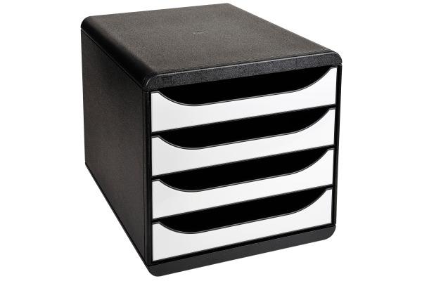 EXACOMPTA Schubladenbox BIG-BOX, 4 Schübe, weiss...