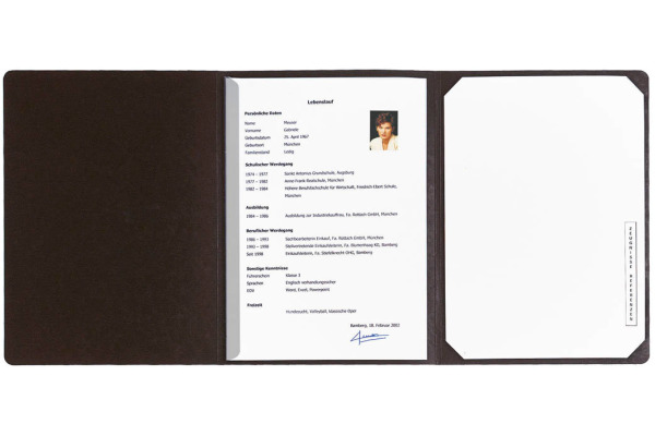 EXACOMPTA Bewerbungsmappe A4 48661B schwarz 3-teilig