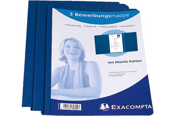 EXACOMPTA Bewerbungsmappe A4 48662B blau 3-teilig