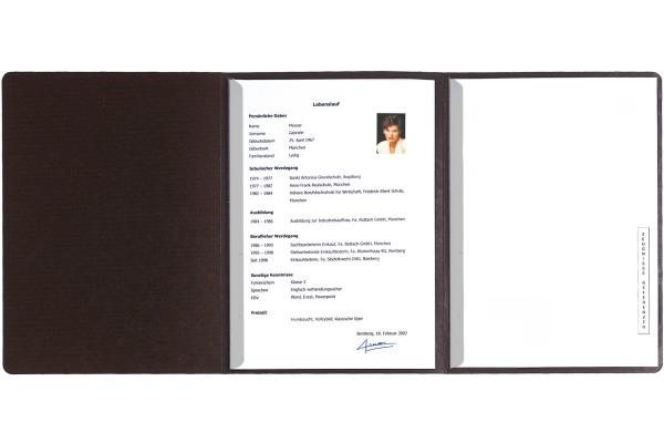 EXACOMPTA Bewerbungsmappe A4 49751B schwarz 3-teilig