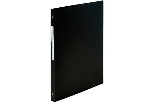 EXACOMPTA Ringbuch PP 4-Ring Mechanik DIN A4 schwarz blickdicht