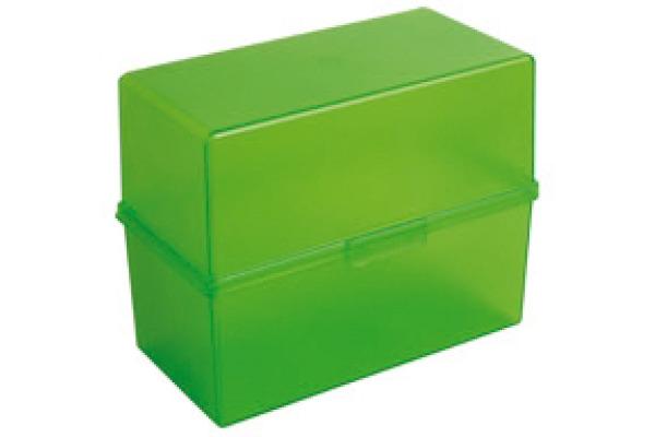 EXACOMPTA Karteikasten A6 51797D grün transparent