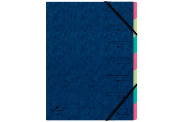 EXACOMPTA Ordnungsmappe A4 54072E blau 7-teilig